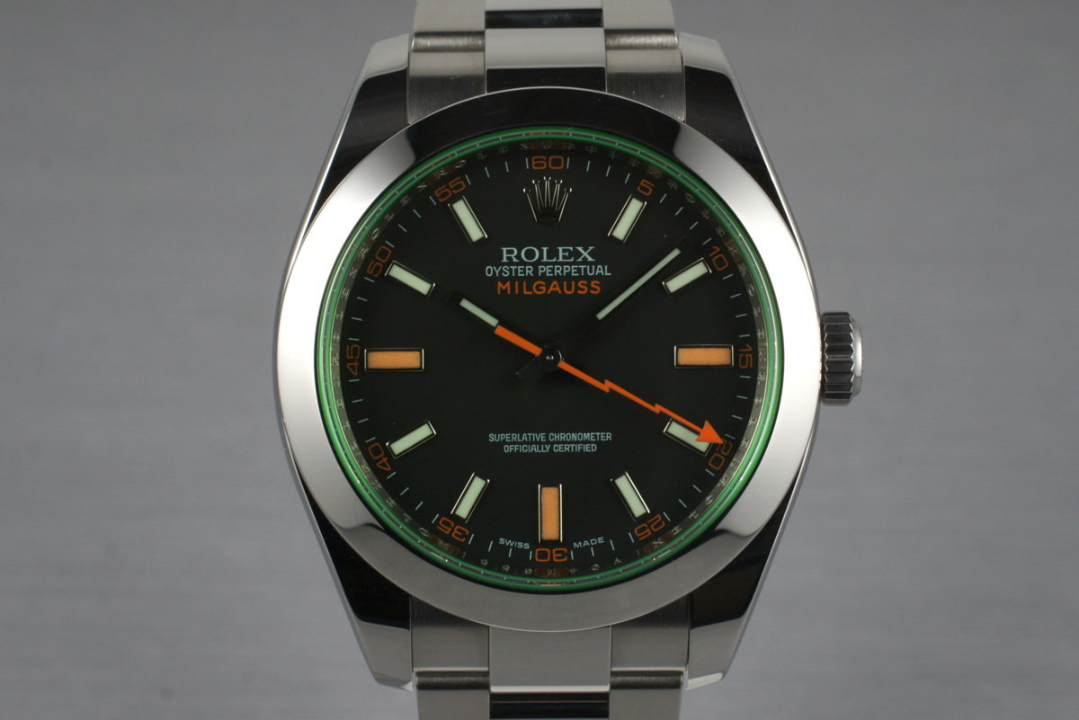 2009 Rolex Milgauss Green 116400V with Box and Papers photo, #0