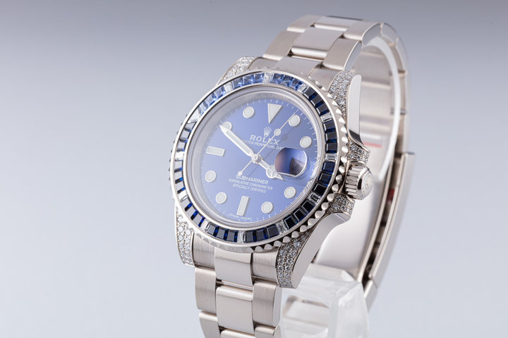 2020 Rolex Submariner 18k White Gold 116659SABR Sapphire and Diamond Bezel with Box and Card photo