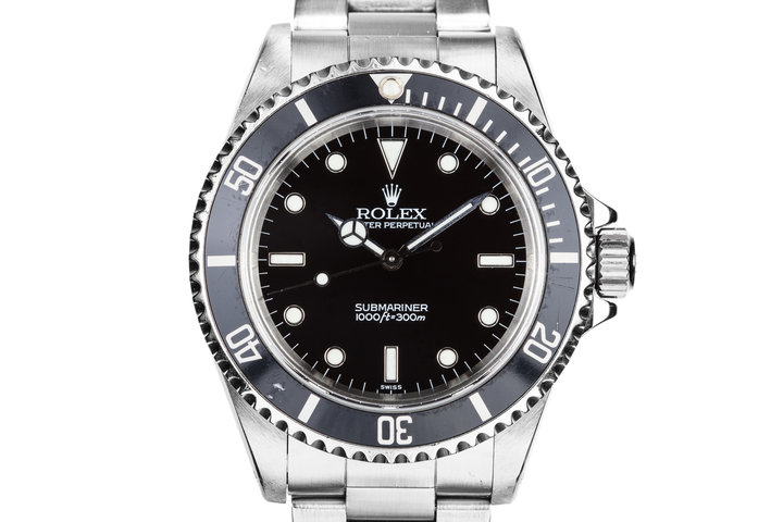 """1998 Rolex Submariner 14060 with """"SWISS"""" Only Dial photo"""