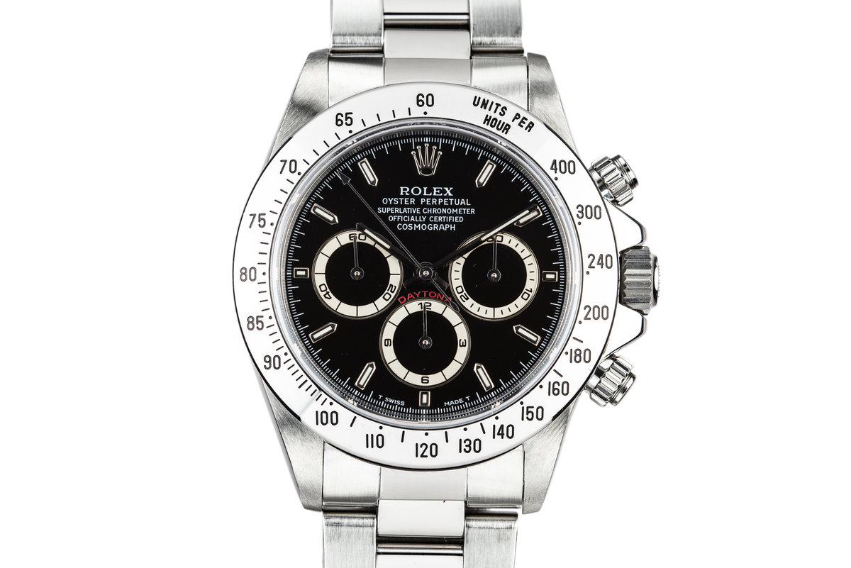 1997 Rolex Zentih Daytona 16520 Black Dial with Box and Papers photo, #0