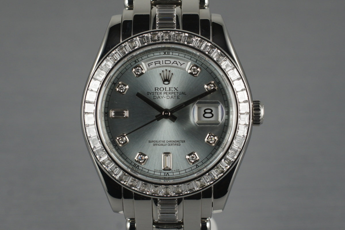2007 Rolex Platinum and Diamond Day-Date Masterpiece 18956 with Box and Papers photo, #0