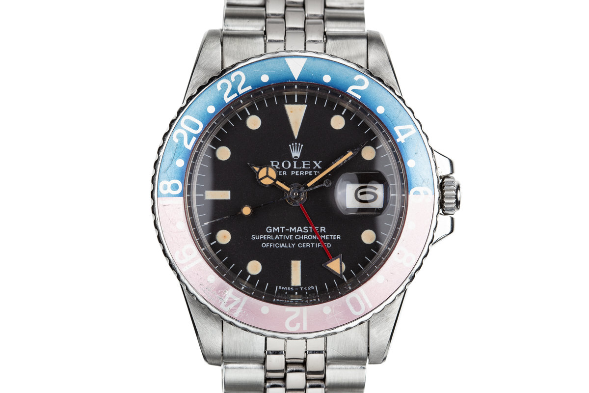 """1968 Rolex GMT-Master 1675 """"Pepsi"""" MK I Dial with Box and Papers photo, #0"""