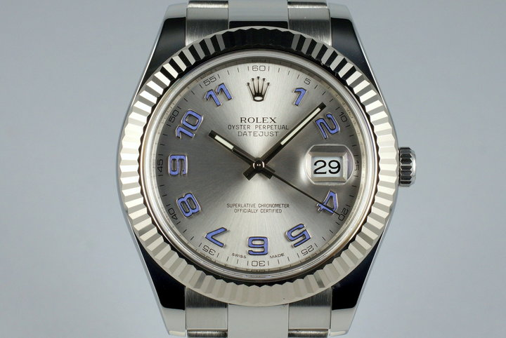 2009 Rolex DateJust 116334 Silver Arabic Dial with Box and Papers photo