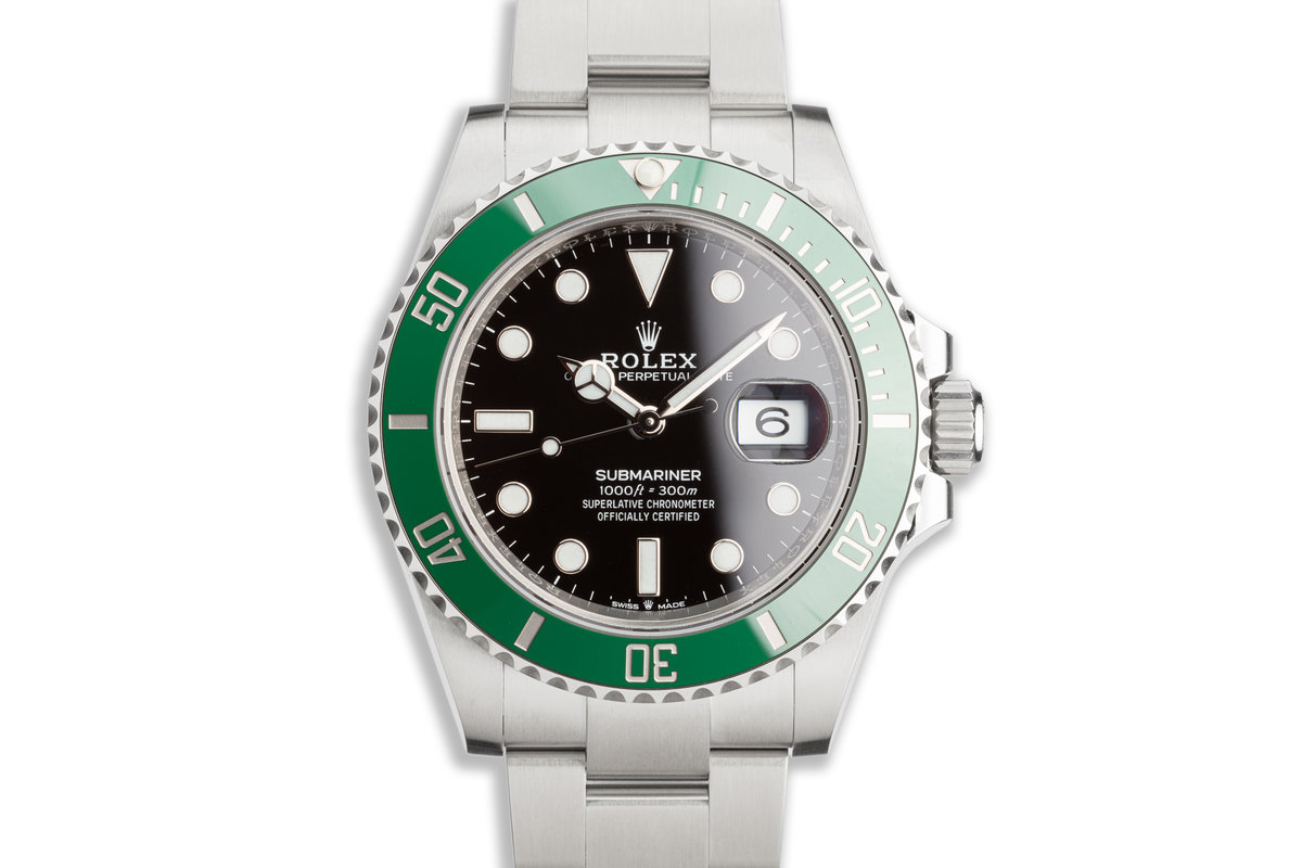 "2021 Rolex Green 41mm Submariner 126610LV ""Kermit"" with Box & Card photo, #0"