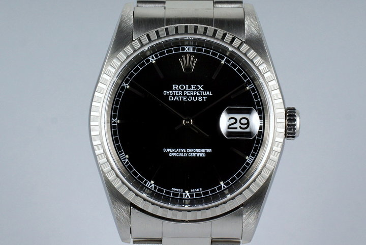 2001 Rolex DateJust 16220 Black Dial photo