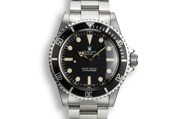 1976 Rolex Submariner 5513 with Pre-Comex Dial photo
