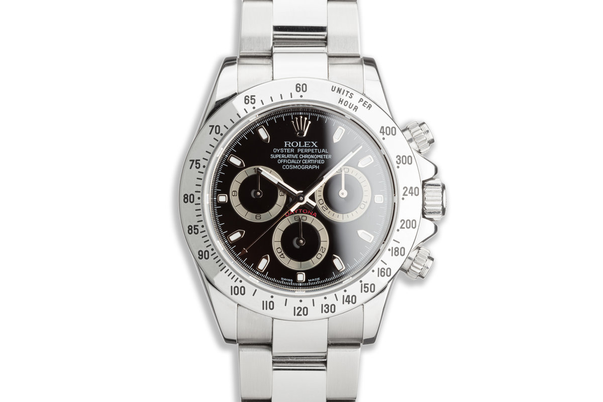 2006 Rolex Daytona 116520 Black Dial with Box and Papers photo, #0