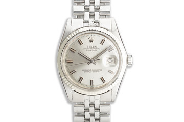 1969 Vintage Rolex DateJust 1601 Silver Dial photo