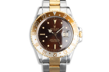 1986 Vintage Rolex GMT-Master 16753 with Metallic Brown Nipple Dial photo