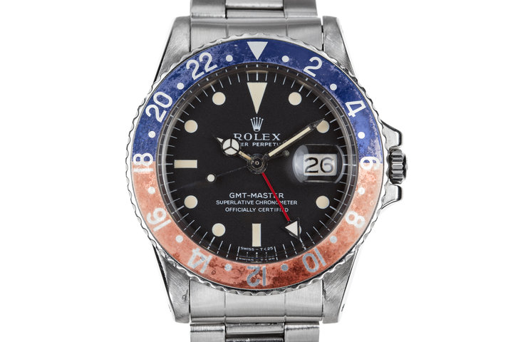 """1971 Rolex GMT-Master 1675 with Faded """"Pepsi"""" Insert photo"""