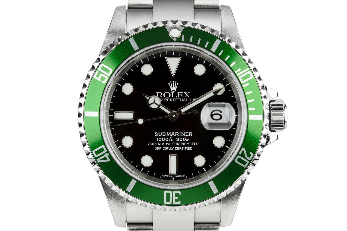 2005 Rolex Green Submariner 16610 photo, #0