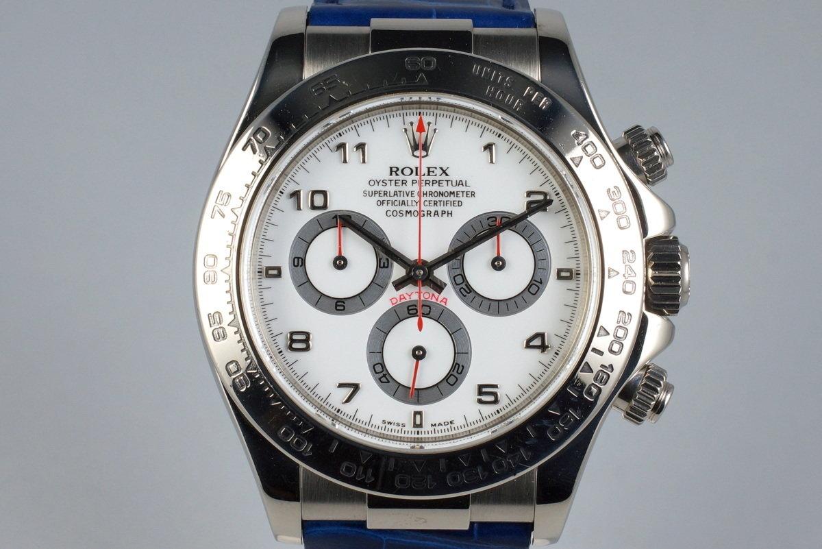 2001 Rolex WG Daytona 16519 White Arabic Dial photo, #0