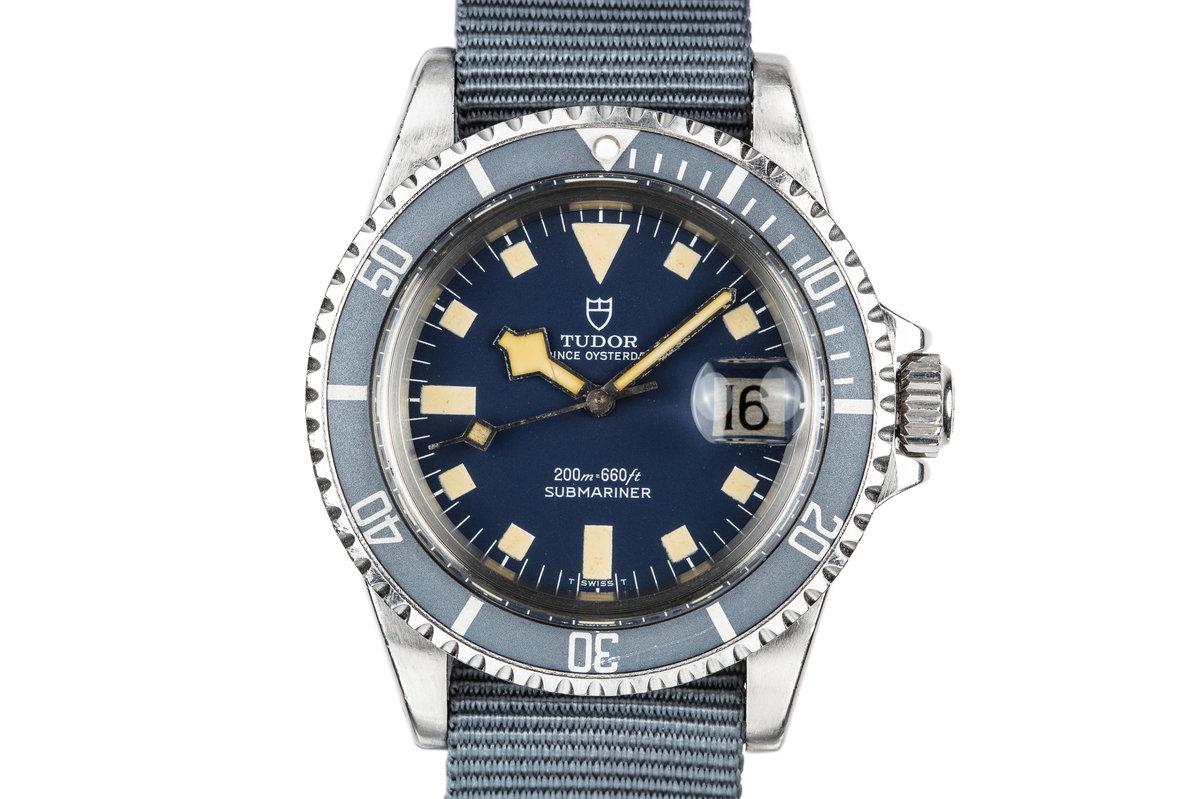1980 Tudor Snowflake Submariner 94110 Blue photo, #0