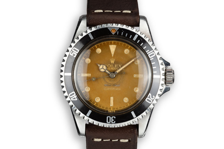 1960 Rolex Submariner 5512 Pointed Crown Guard Case with Tropical Gilt Dial photo