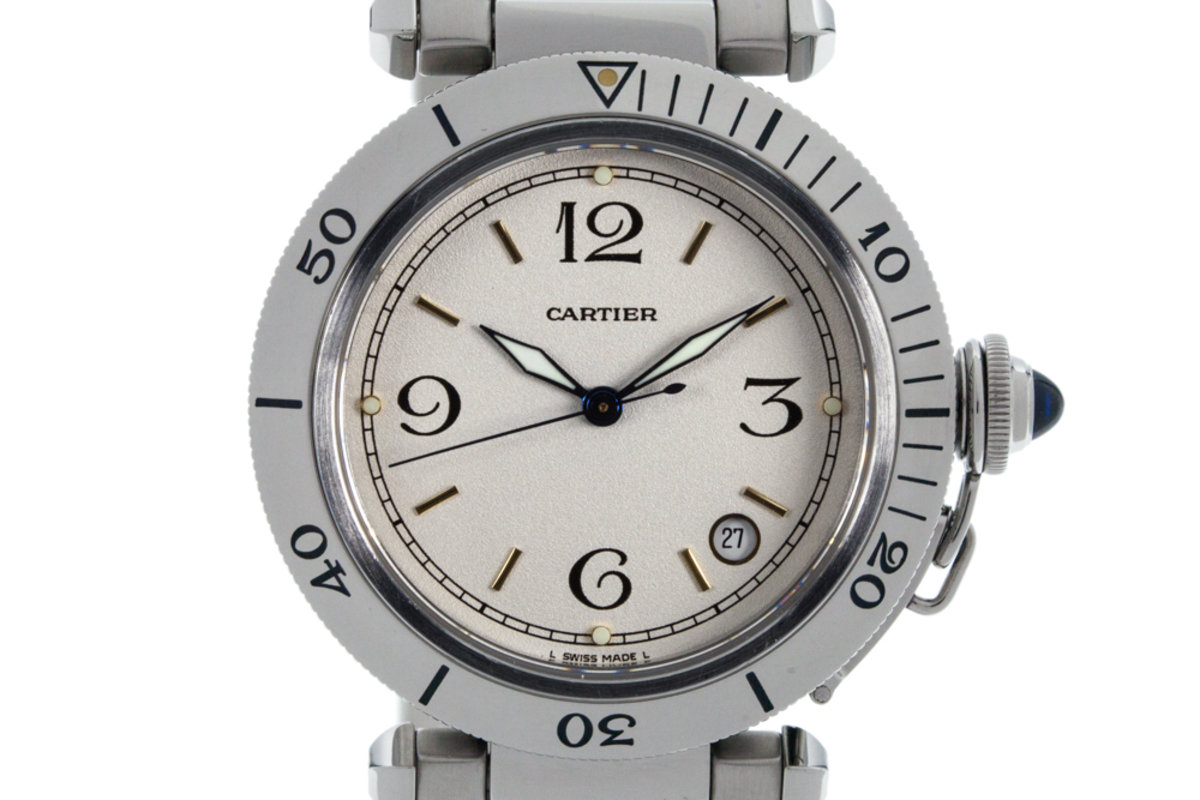 "Cartier Pasha ""38"" with White Dial photo, #0"
