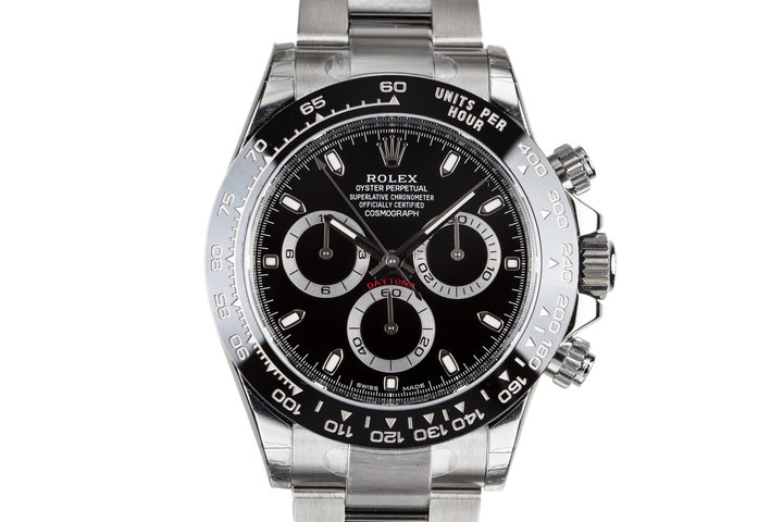 Mint 2018 Rolex Daytona 116500LN Black Dial with Box and Papers photo