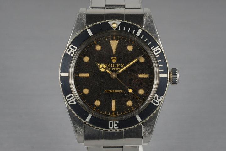 1962 Rolex Submariner 5508 Tropical Dial photo