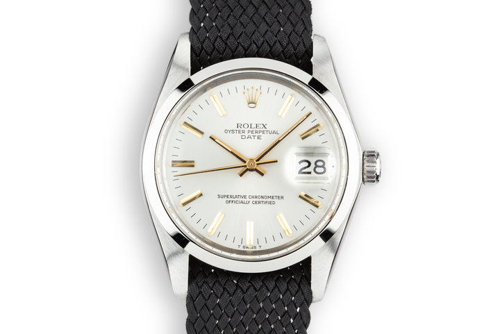 1978 Rolex Date 1500 Silver Dial with Gold Markers photo