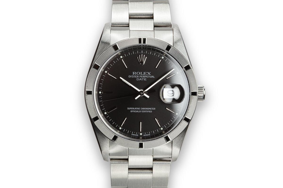 2005 Rolex Date 15210 Black Dial photo, #0