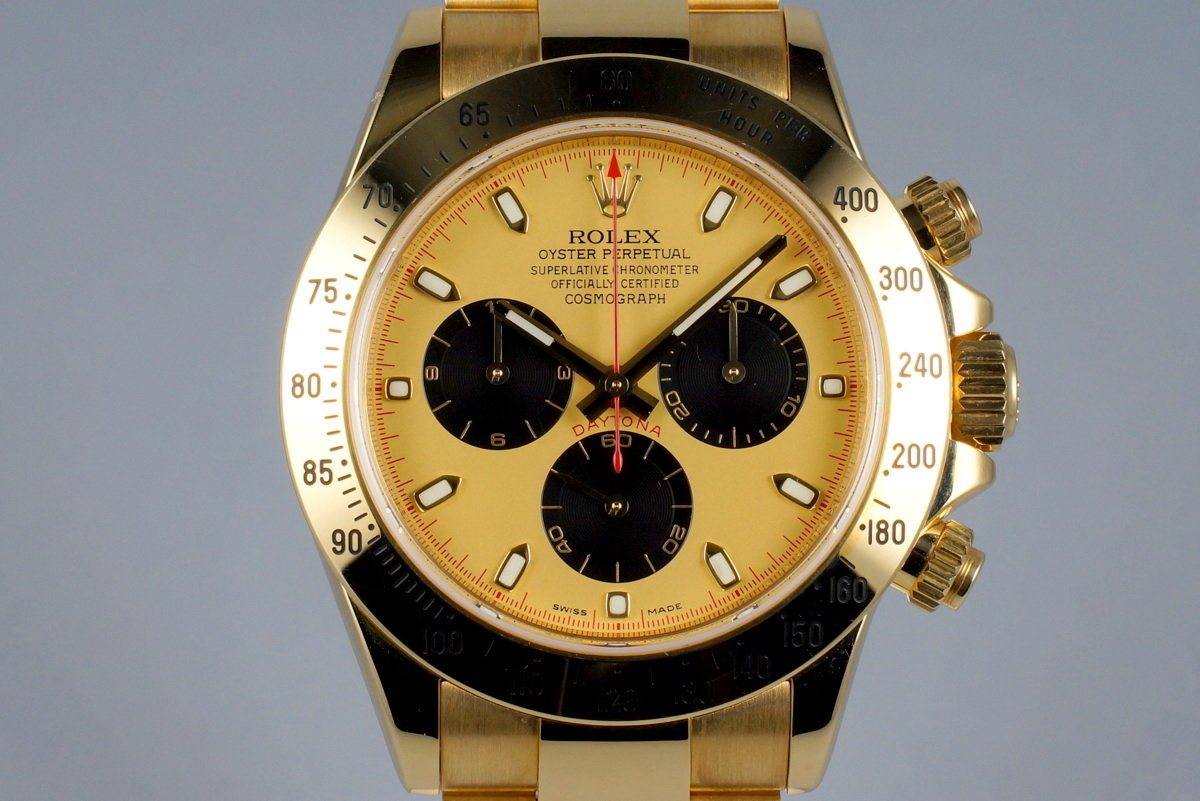 2006 Rolex YG Daytona 116528 with Box and Papers photo, #0