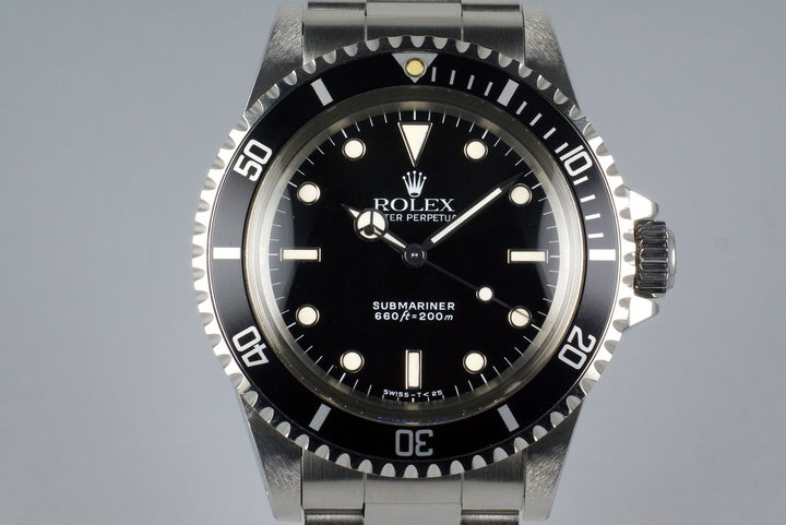 1989 Rolex Submariner 5513 with Box and Papers photo