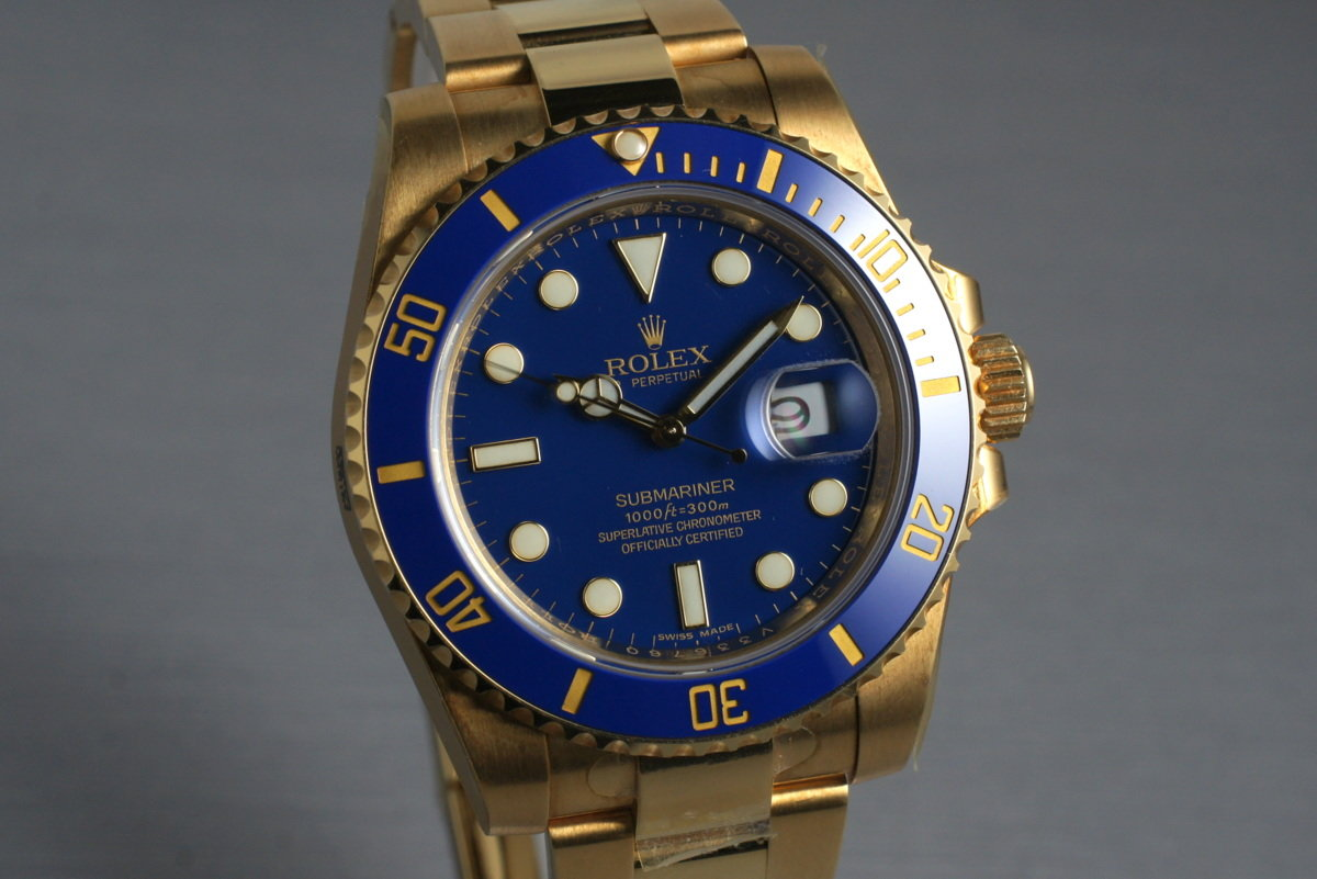 online store 226c2 f395e HQ Milton - 2009 Rolex YG Submariner 116618LB with Box and ...