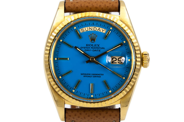 1970 Rolex YG Day-Date 1803 Blue Stella Dial photo
