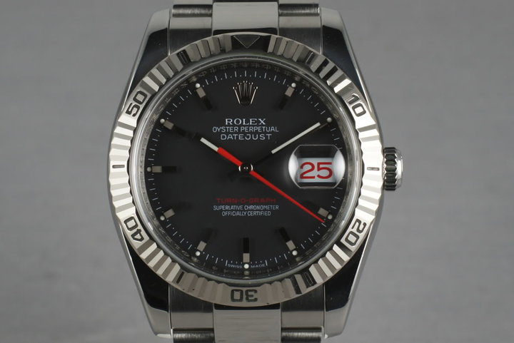 2003 Rolex Datejust Turn-O-Graph 116264 with Black Dial photo