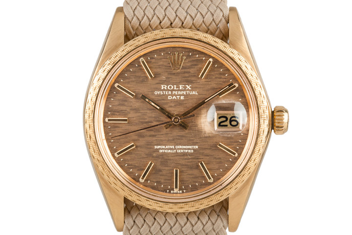 1972 Rolex Date 1514 with Brown Mosaic Dial photo