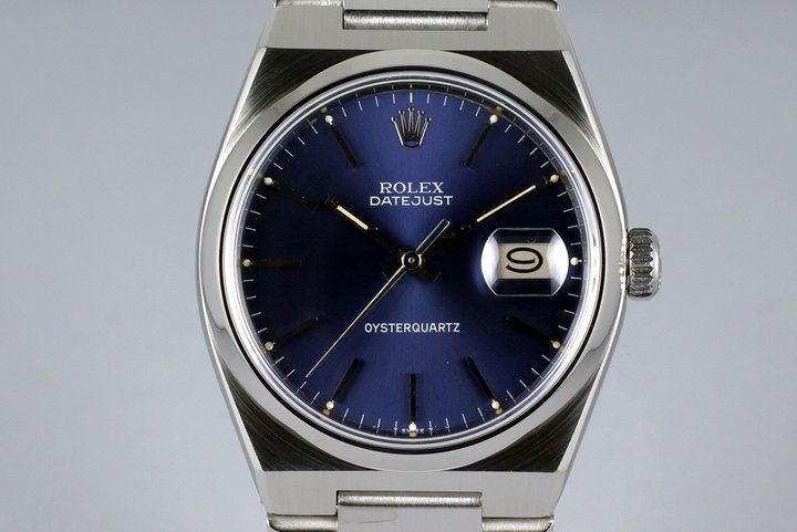 1978 Rolex OysterQuartz Datejust 17000 Early Blue Non-COSC Dial photo