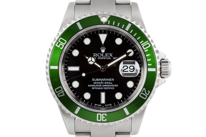 2003 Rolex Submariner 16610LV Green Bezel with Box and Papers photo