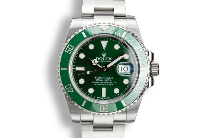 "2014 Rolex Green Submariner116610LV ""Hulk"" with Box and Papers photo"