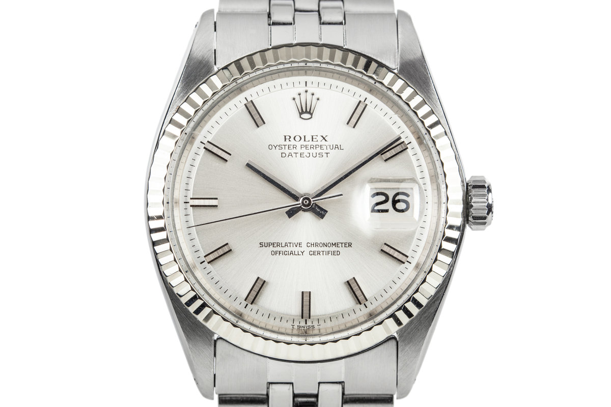 1972 Rolex DateJust 1601 Silver Dial with No Lume Dial photo, #0
