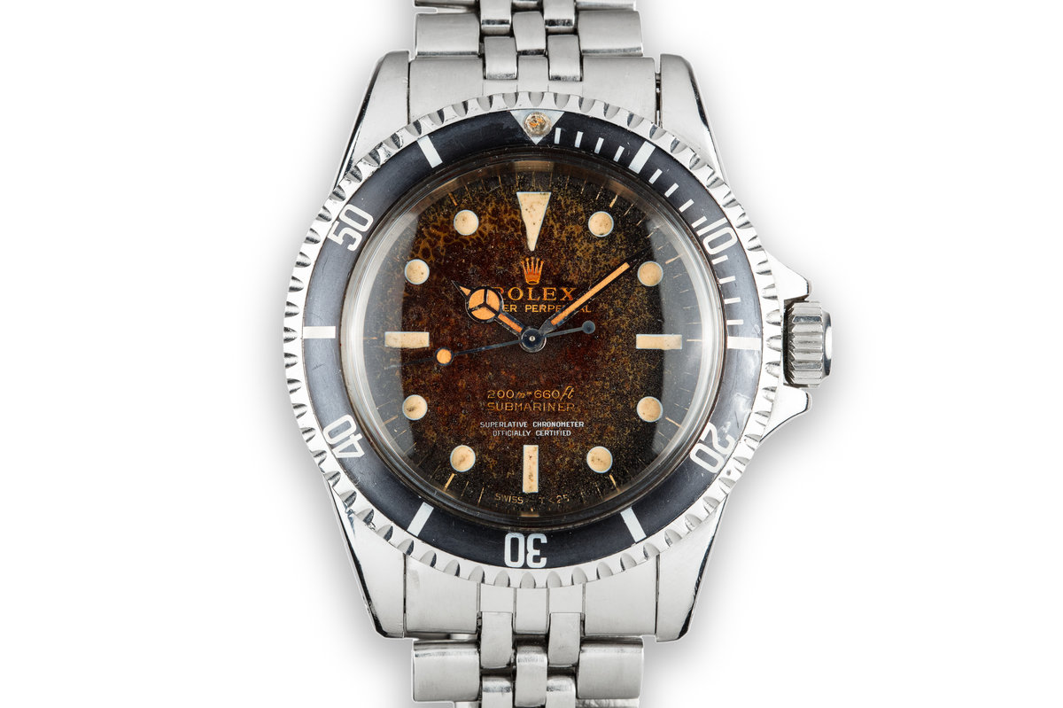 1966 Rolex Submariner 5512 with Post-Tropical Gilt Dial Dial photo, #0