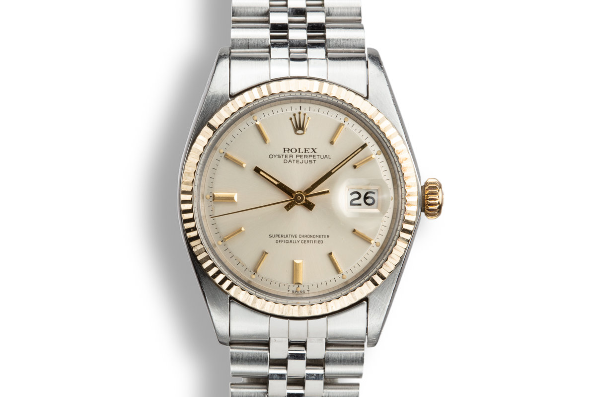 1969 Rolex Two-Tone DateJust 1601 Silver Dial photo, #0