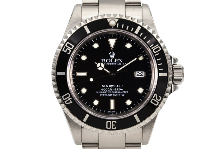 1998 Rolex Sea Dweller 16600 with Box and Papers and Swiss Only Dial photo