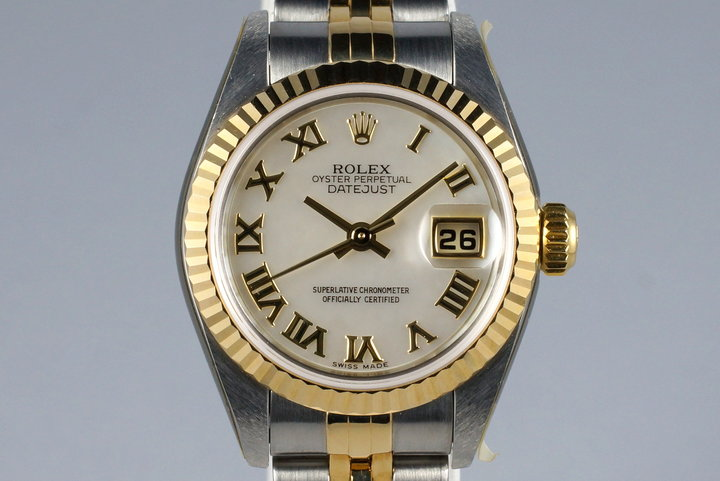 2001 Rolex Ladies Two Tone Datejust 79173 MOP Dial with Box and Papers MINT photo