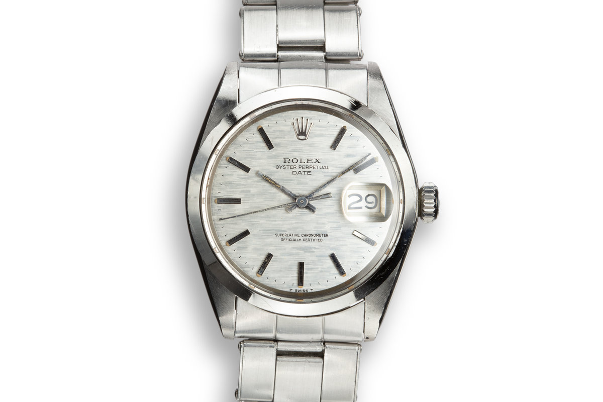 1970 Rolex Date 1500 Silver Mosaic Dial photo, #0
