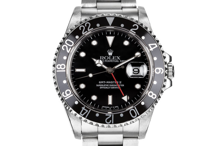 1995 Rolex GMT-Master II 16710 with Black Bezel Insert photo