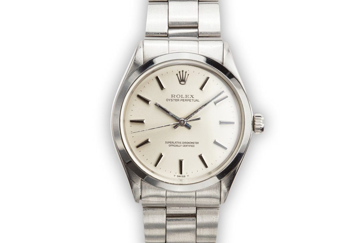 1972 Rolex Oyster Perpetual 1002 with Silver no Lume Dial photo, #0