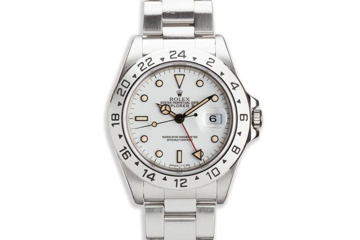 """1991 Rolex Explorer II 16570 White """"Polar"""" Dial photo"""