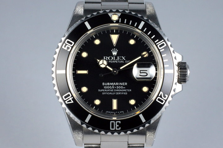 1988 Rolex Submariner 168000 photo