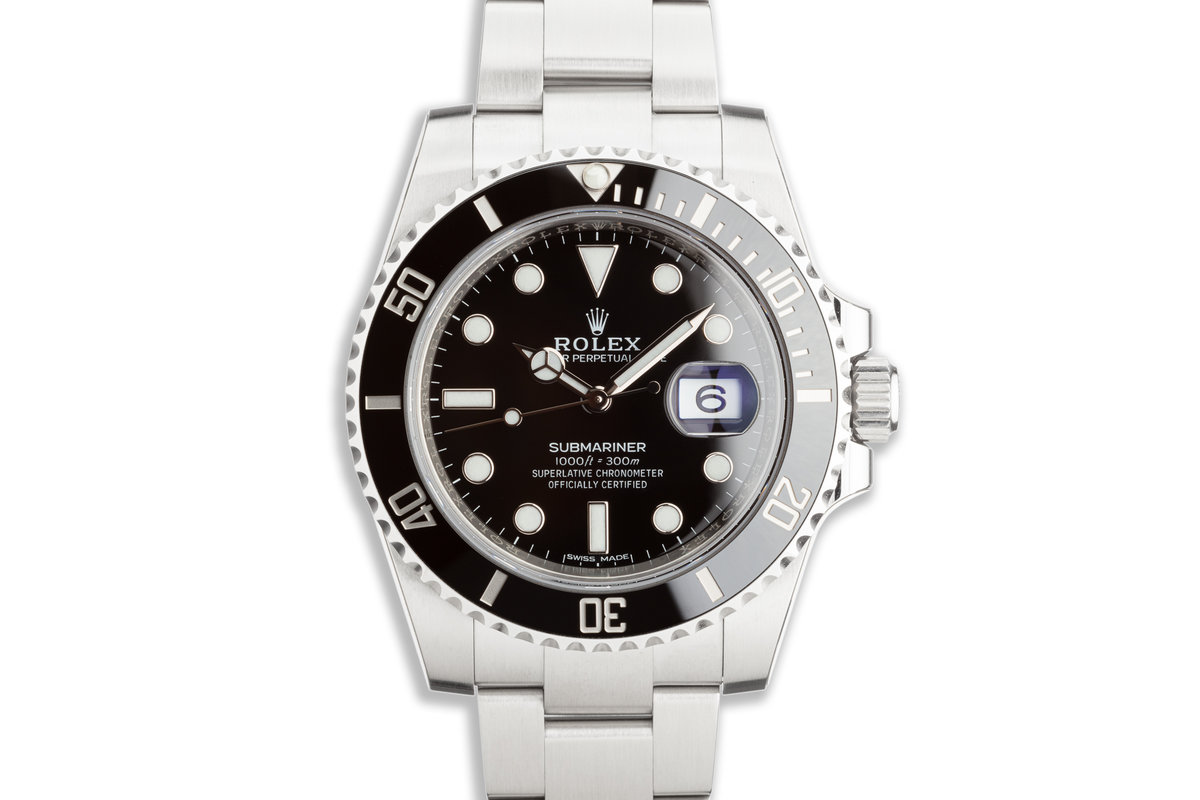 Mint Unworn Full Stickers 2020 Rolex Ceramic Submariner 116610LN with Box and Card photo, #0
