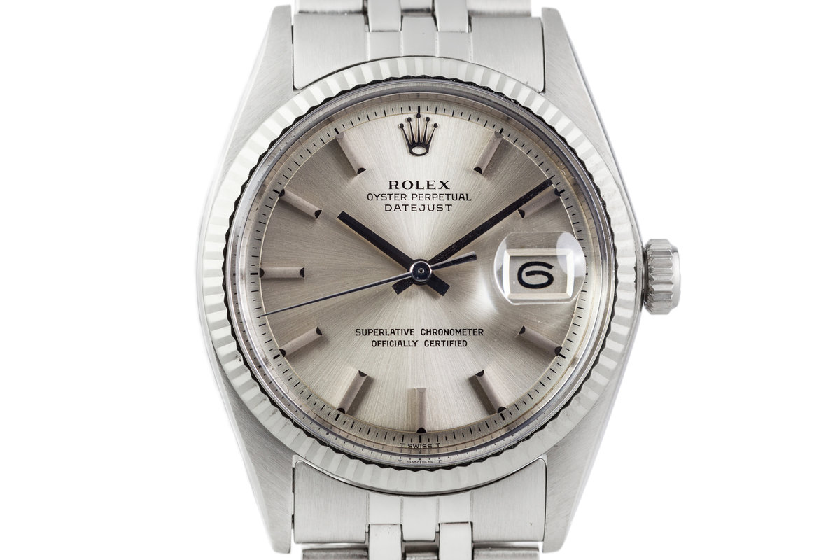 1971 Rolex Datejust 1601 Silver Non-Lume Dial with Box and Papers photo, #0