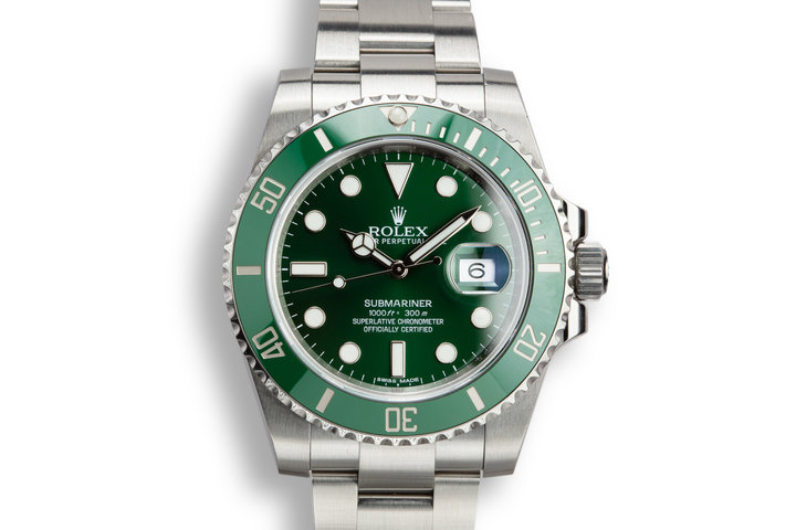 "2015 Rolex Submariner 116610LV ""Hulk"" with Box and Papers photo"