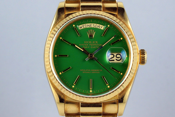 1979 YG Day-Date 18038 Green Stella Dial photo