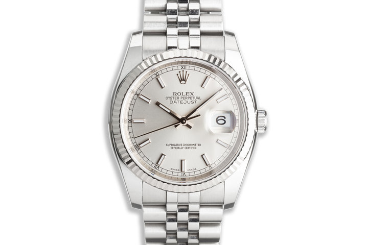 2017 Rolex Datejust 116234 Silver Dial with Box & Card photo