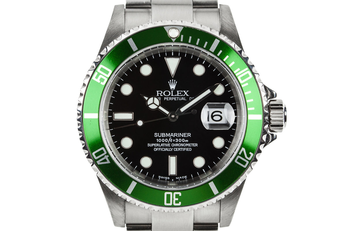 2003 Rolex Green Submariner 16610LV with MK I Maxi Dial photo, #0