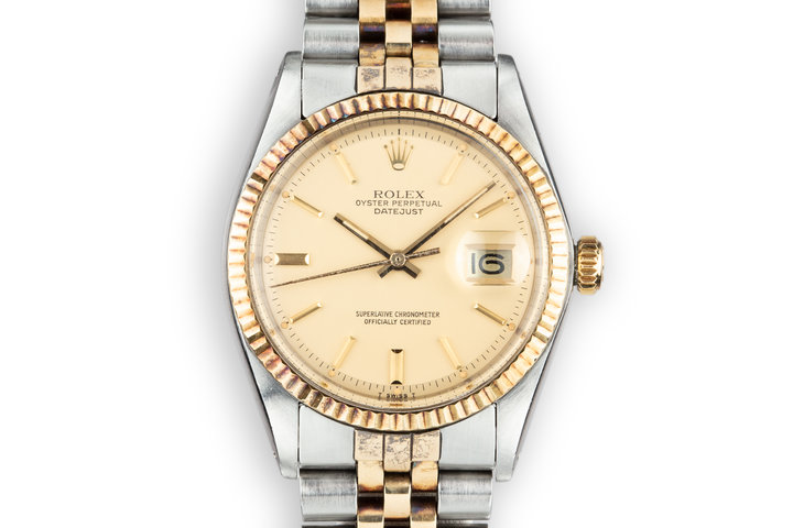 1978 Rolex Two-Tone DateJust 1601 with Matte Champagne Dial photo