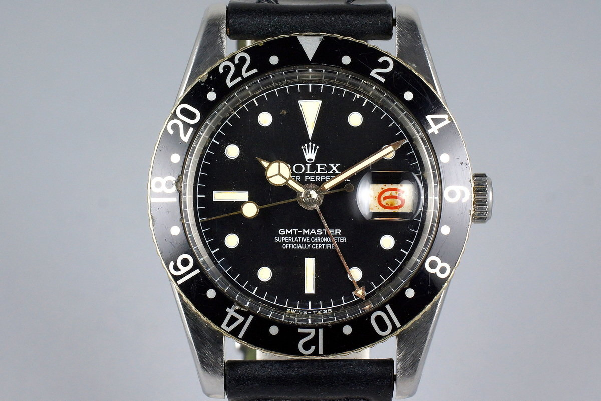 1957 Rolex GMT 6542 Matte Chapter Ring Service Dial photo, #0